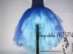 Tutu Albastru cu trena Belle Epoque 1 Republic of Tutu